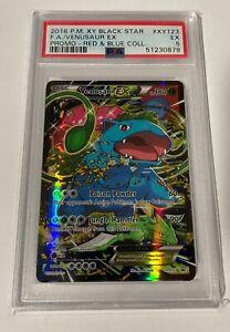 Pokemon Card 2016 XY Black Star Promo F.A. Venusaur EX Red & Blue XY123 PSA 5 EX
