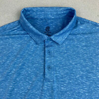Champion Polo Shirt Mens XXL Heather Blue Short Sleeve Casual Golf