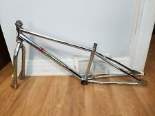 OLD SCHOOL BMX 1980s REVCORE CRUISER FRAME FORK OG CHROME DECALS VINTAGE RARE