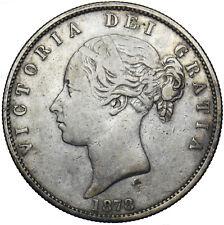 More details for 1878 halfcrown - victoria british silver coin