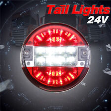 20 LED Truck Trailer Round Tail Light Red-White Brake Reverse Turn Signal Lamp
