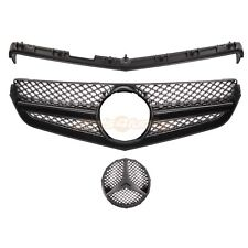 MERCEDES BENZ E-CLASS COUPE W207 C207 2009-2013 FRONT GRILLE ALL BLACK AMG STYLE