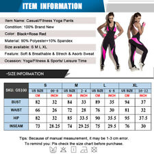 Women's Sports Yoga Jumpsuit Gym Rompers Sexy Suit Fitness Workout Bodysuits US