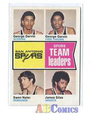 1974/75 Topps #227 George Gervin/Nater/James Silas SPURS Carte NBA Basketball