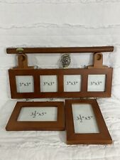 Collage Picture Frame Set Wall Photo Hanging Wood Multi Pic New Open Box