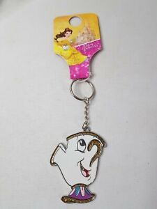 DISNEY Beauty and The Beast CHIP CUP Keyring Key Chain CHRISTMAS GIFT PRESENT
