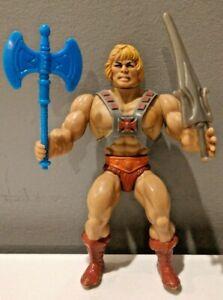 1982 Masters of the Universe Original He-Man Figure w/ Axe Sword & Armor MOTU