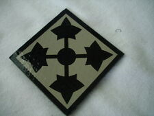 4th Infantry Division Infrared (IR) Reflective Unit Patch Printed on Honeycomb