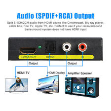1080P HDMI to HDMI Optical + SPDIF + RCA L/R Extractor Converter Audio Splitter_