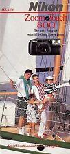 Nikon Zoom Touch 800 35mm Camera Brochure -Nikon-from 1991