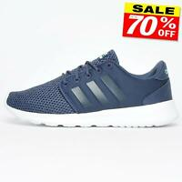 Adidas Cloudfoam QT Racer Womens Running Gym Casual Fitness Sports Trainers Navy