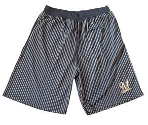 Majestic Men's Size 2XL-Tall Milwaukee Brewers MLB Pin Stripe Baseball Shorts