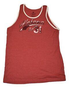 J. America Mens NCAA Alabama Crimson Tide Tank Top Shirt New M