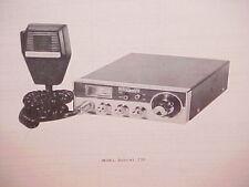 1977 PEARCE-SIMPSON CB RADIO SERVICE SHOP MANUAL MODEL BOBCAT 23D