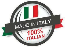 Made in italy 100% italien rosette & il tricolore drapeau vinyle autocollant voiture décalque