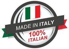 Made In ITALY 100% Italian Rosette & il Tricolore Flag vinyl car sticker Decal
