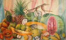 1974 STILL LIFE WITH FRUITS OIL PAINTING SIGNED
