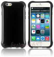 for iPhone 6 and 6s  phone dual layer case shockproof glossy black   4.7 inch