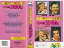 HOLLYWOOD GOLD THE 30'S BETTE DAVIS CLARK GABLE MARX AS NEW RARE PAL VHS VIDEO