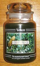 Yankee Candle - 22 oz - CRISP SPRUCE - Black Band - RARE AND HARD TO FIND!!!