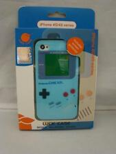 Iphone 4 Silicone Case & Screen Protector GameBoy Series 4G/4S NEW BLUE