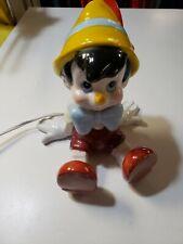 Pinocchio Porcelain Lamp Figure Walt Disney Schmid nightlight vintage works