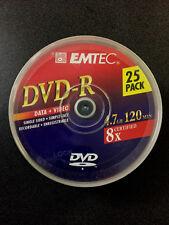 EMTEC DVD-R 4.7 GB 8X  /   25er Cake neu