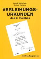 CATALOGO der DOCUMENTI PREMI des 3. REICHES (Lothar bichlmaier/Lothar Hartung