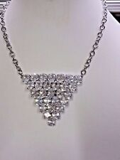 KIRKS FOLLY TRIANGLE CRYSTAL NECKLACE NWOT