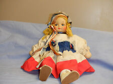 Patriotic Georgene Cloth Doll - Miss Liberty 1930's - Nu-Art Doll Tag