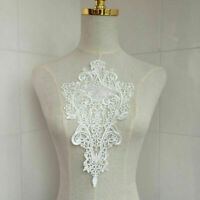 White Lace DIY Embroidered Sew Iron on Patch Badge Applique Bag Dress C5R2