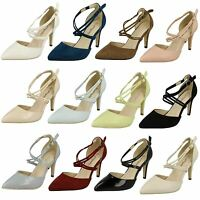 LADIES SIZE ANNE MICHELLE SLIM HEELS POINTED TOE EVENING COURT SHOES F10551