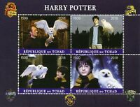 Chad 2018 CTO Harry Potter Daniel Radcliffe 4v M/S I Owls Movies Film Stamps