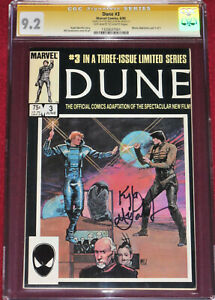 CGC SS DUNE issue 3 (Marvel Comics, 1985) signed by KYLE MACLACHLAN!