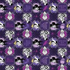 Cuarto gordo Disney Villains mal es el nuevo negro 100% Cotton Quilting fabric