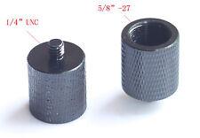 "2pcs shortter Adapter Mic Stand 5/8""- 27 Female to 1/4""- 20 male camera tripod"