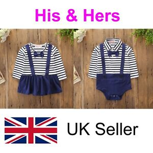 Twins Baby Grows Baby Vests Clothes Outfit Boy Girl Unisex Free Delivery Sale