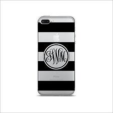 Clear Transparent Cell Phone case Monogram  iPhone X / /6 / 7 / 8 & Plus