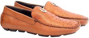 Men's Vestigium Genuine Full Quill Ostrich Casual Loafer Slip On Shoes