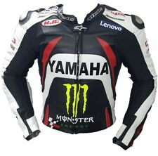 Yamaha Monster Motorbike Leather Jacket In Pure Cow Hide/Ce Approved Protectors