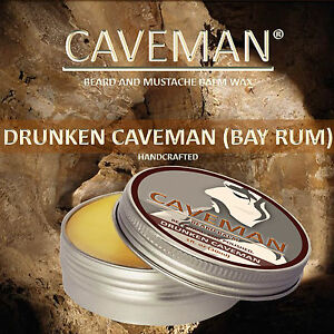 CAVEMAN® Natural Beard & Handlebar Wax Mustache Beard Balm Bay Rum Scent