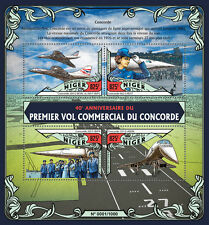 Niger 2016 MNH Concorde First Flight 40th Anniv 4v M/S G-BOAG Aviation Stamps
