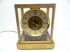 Vintage Used Working Electric Atmos Style Mastercrafters Glass Case Clock Old