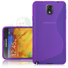 Custodia Wave viola per Samsung Galaxy Note 3 N9005 cover flessibile case nuova