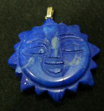 ciondolo aulite sintetica pasta di pietra sole blu pendolo collana bigiotteria