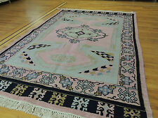 6x9 Tribal  Reversible hand-knotted wool Oriental Area Rug  blue rose
