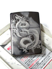 Zippo Flying Dragon Laser Engraving Black Titanium Plating Japan Limited F/S