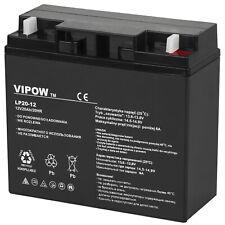 Batterie gel 12V 20Ah Vipow couleur noire 12 mOhm