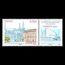 France 2017 - French Federation of Philatelic Associations Architecture - MNH
