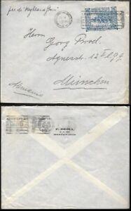 Uruguay Cover to Germany 1926. Battle of Sarandi stamp